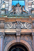 Glasgow: Royal Insurance Building. Buchanan St., detail. Photo '90.