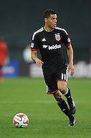 Washington D.C. - March 8, 2014: Luis Silva (11) of D.C. United. The Columbus Crew defeated D.C. United 3-0 during the opening game of the 2014 season at RFK Stadium.