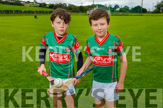 Hurling twins Paddy and Matt Cronin from Crotta get ready for the re opening of the hurling field in Crotta