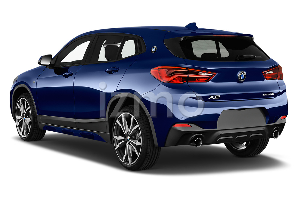 Car pictures of rear three quarter view of a 2018 BMW X2 M Sport X 5 Door SUV angular rear