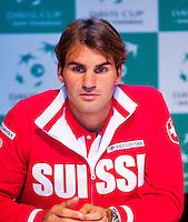 13-09-12, Netherlands, Amsterdam, Tennis, Daviscup Netherlands-Swiss,  Draw, Roger Federer