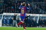 FC Barcelona's Leo Messi during the match of La Liga, between Real Sociedad and Futbol Club Barcelona at Anoeta Stadium, San Sebastian , Spain. November 27, 2016. (ALTERPHOTOS/Rodrigo Jimenez)