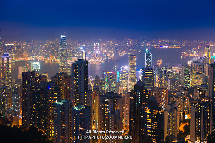 Stunning view of Hong Kong from Victoria Peak