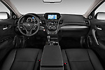 Stock photo of straight dashboard view of 2014-2015 Acura RDX Tech  5 Door SUV