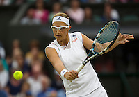 02-07-13, England, London,  AELTC, Wimbledon, Tennis, Wimbledon 2013, Day eight, Kirsten Flipkens (BEL)<br /> <br /> <br /> <br /> Photo: Henk Koster