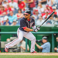 29 May 2016: Washington Nationals outfielder Ben Revere in action against the St. Louis Cardinals at Nationals Park in Washington, DC. The Nationals defeated the Cardinals 10-2 to split their 4-game series. Mandatory Credit: Ed Wolfstein Photo *** RAW (NEF) Image File Available ***