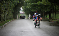 Daan Myngheer (BEL/VerandasWillems) & Frederik Backaert (BEL/Wanty-Groupe Gobert) succeed in staying ahead of the peloton with 10km to go, but their advantage is never bigger than 1 minute.<br /> <br /> Brussels Cycling Classic 2015