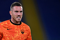 Jordan Veretout of AS Roma during the warm up prior to the Europa League Group Stage A football match between AS Roma and CSKA Sofia at stadio olimpico in Roma (Italy), October, 29th, 2020. Photo Andrea Staccioli / Insidefoto