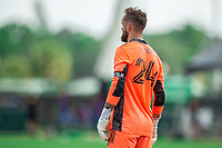 LAKE BUENA VISTA, FL - JULY 14: Stefan Frei #24 of the Seattle Sounders waiting on the ball during a game between Seattle Sounders FC and Chicago Fire at Wide World of Sports on July 14, 2020 in Lake Buena Vista, Florida.