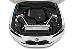 Car Stock 2022 BMW 4-Series-Coupe 430i-Sport 2 Door Coupe Engine  high angle detail view