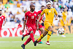 Khalil Baniateyah of Jordan (L) in action during the AFC Asian Cup UAE 2019 Group B match between Australia (AUS) and Jordan (JOR) at Hazza Bin Zayed Stadium on 06 January 2019 in Al Ain, United Arab Emirates. Photo by Marcio Rodrigo Machado / Power Sport Images