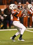 Texas Longhorns cornerback Adrian Phillips (17) prepares to return a punt during the Texas A & M vs. Texas Longhorns football game at the Darrell K Royal - Texas Memorial Stadium in Austin, Tx. Texas A & M defeats Texas 24 to 17....