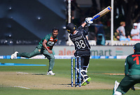 NZ's Devon Conway bats during the third One Day International cricket match between the New Zealand Black Caps and Bangladesh at the Basin reserve in Wellington, New Zealand on Friday, 26 March 2021. Photo: Dave Lintott / lintottphoto.co.nz