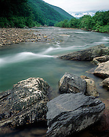 South Branch of the Potomac River in the Seneca Rocks National Recreation Area; Monongahela National Forest, WV