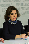 Spain's Soraya Saez de Santamaria the Popular Party's national executive committee in Madrid, Spain. January  14, 2017. (ALTERPHOTOS/Rodrigo Jimenez)