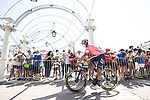 EF Education-Nippo arrive at sign on before Stage 5 of La Vuelta d'Espana 2021, running 184.4km from Tarancón to Albacete, Spain. 18th August 2021.      <br /> Picture: Charly Lopez/Unipublic   Cyclefile<br /> <br /> All photos usage must carry mandatory copyright credit (© Cyclefile   Unipublic/Charly Lopez)