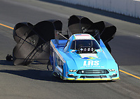Jul 29, 2017; Sonoma, CA, USA; NHRA funny car driver Tim Wilkerson during qualifying for the Sonoma Nationals at Sonoma Raceway. Mandatory Credit: Mark J. Rebilas-USA TODAY Sports