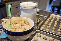 Freshly baked Christmas cookies.