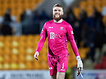 St Johnstone v Kilmarnock…24.11.18…   McDiarmid Park    SPFL<br />A smile on the face of Zander Clark after keeping another clean sheet<br />Picture by Graeme Hart. <br />Copyright Perthshire Picture Agency<br />Tel: 01738 623350  Mobile: 07990 594431