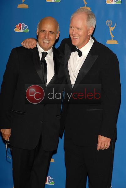 Jeffrey Tambor and John Lithgow<br />in the Press Room at the 58th Annual Primetime Emmy Awards. The Shrine Auditorium, Los Angeles, CA. 08-27-06<br />Scott Kirkland/DailyCeleb.com 818-249-4998