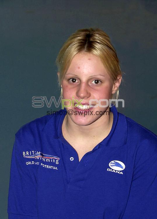 Pix: Matthew Lewis/SWpix.com. Swimming. National Youth Swimming Training Camp, Millfield School. Somerset. 23/10/2001...COPYWRIGHT PICTURE>>SIMON WILKINSON>>01943 436649>>..Holly Fox.
