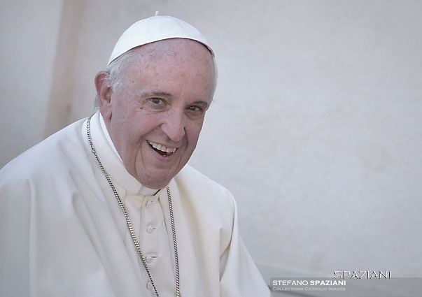 Pope Francis during of a weekly general audience at St Peter's square in Vatican. June 21, 2017
