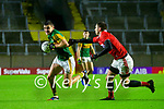 Seán O'Shea, Kerry in action against Luke Connolly, Cork, during the Munster GAA Football Senior Championship Semi-Final match between Cork and Kerry at Páirc Uí Chaoimh in Cork.