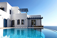 luxury swimming pool<br /> <br /> Situated in Saint Lazarus, the property is built on a hilltop, affording beautiful views of the Aegean. Following traditional architectural lines, the Villa's whitewashed design creates a scenic and peaceful backdrop for an enjoyable holiday.