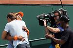 March 18, 2018: Naomi Osaka (JPN) hugs her coach after defeating Daria Kasatkina (RUS) 6-3, 6-2 in the Finals of the BNP Paribas Open at the Indian Wells Tennis Garden in Indian Wells, California. ©Mal Taam/TennisClix/CSM