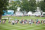 The crowd at UBS Hong Kong Open golf tournament at the Fanling golf course on 24 October 2015 in Hong Kong, China. Photo by Xaume Olleros / Power Sport Images