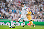 Cristiano Ronaldo of Real Madrid in action during the UEFA Champions League 2017-18 match between Real Madrid and APOEL FC at Estadio Santiago Bernabeu on 13 September 2017 in Madrid, Spain. Photo by Diego Gonzalez / Power Sport Images