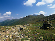 Mount Monroe with Mount Washington in the background from along the Appalachian Trail (Crawford Path) in the White Mountains, New Hampshire.