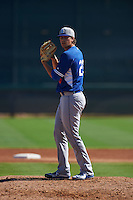 Los Angeles Dodgers pitcher Andrew Sopko (23) during an instructional league game against the Milwaukee Brewers on October 13, 2015 at Cameblack Ranch in Glendale, Arizona.  (Mike Janes/Four Seam Images)