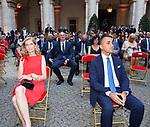 ELENA MATTARELLA E LUIGI DI MAIO<br /> RICEVIMENTO 14 LUGLIO 2021 AMBASCIATA DI FRANCIA<br /> PALAZZO FARNESE ROMA