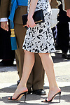 Queen Letizia of Spain's shoes and bag in the the Armed Forces Day. May 27 ,2017. (ALTERPHOTOS/Acero)