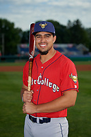 State College Spikes Stanley Espinal (21) poses for a photo before a NY-Penn League game against the Batavia Muckdogs on July 2, 2019 at Dwyer Stadium in Batavia, New York.  Batavia defeated State College 1-0.  (Mike Janes/Four Seam Images)