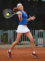 07-08-13, Netherlands, Rotterdam,  TV Victoria, Tennis, NJK 2013, National Junior Tennis Championships 2013, Claire Verwerda<br /> <br /> <br /> Photo: Henk Koster