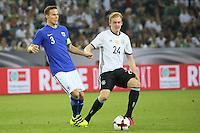 Niklas Moisander (Finnland) gegen Julian Brandt (Deutschland, Germany) - Deutschland vs. Finnland, Borussia Park, Mönchengladbach