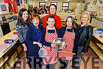 Launching the Cookies for Chemo cooking fundraiser in the Presentation Secondary School, Tralee on Tuesday.  Which is going ahead on the 13th December.  <br /> Front l to r: Elaine Dennehy (Home Ec Teacher), Mary Fitzgerald (Cookies for Chemo), Breda O'Connor (Comfort for Chemo), Students Ruth O'Neill and Faith Dennehy and Chrisie Kelly (Principal).
