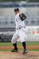 April 25, 2010: Pitcher Adam Warren of the Tampa Yankees delivers a pitch during a game at George M Steinbrenner Field in Tampa, FL. Tampa is the Florida State League High Class-A affiliate of the New York Yankees. Photo By Mark LoMoglio/Four Seam Images