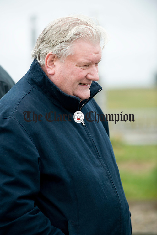 Des Geraghty of SIPTU attended at the funeral of musician Joe Ryan in Inagh.