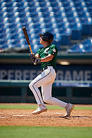 Ty Hollandsworth (6) of Calvary Christian Academy in Parkland, FL during the Perfect Game National Showcase at Hoover Metropolitan Stadium on June 19, 2020 in Hoover, Alabama. (Mike Janes/Four Seam Images)