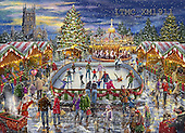 Marcello, CHRISTMAS LANDSCAPES, WEIHNACHTEN WINTERLANDSCHAFTEN, NAVIDAD PAISAJES DE INVIERNO,ice scating,puzzles,christmas market, paintings+++++,ITMCXM1911,#XL#