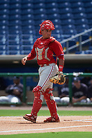 Philadelphia Phillies Edgar Cabral (3) during an instructional league game against the New York Yankees on September 29, 2015 at Brighthouse Field in Clearwater, Florida.  (Mike Janes/Four Seam Images)