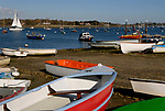 Sailing boats, Chichester harbour, estuary from West Itchenor, Sussex England.