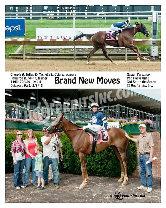 Brand New Moves winning at Delaware Park on 8/8/13