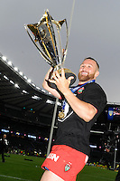 Matt Giteau of RC Toulon celebrates with the European Rugby Champions Cup trophy