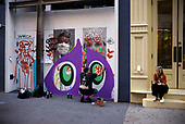 New York New York<br /> June 21, 2020<br /> <br /> Paintings fill the streets of SoHo by artists covering plywood windows distract looters during the Black Lives Matters moment and coronavirus pandemic. <br /> <br /> New York enters phase 2 this week and opens shops many of these will quickly disappear.