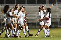 Lakewood Ranch, FL - Wednesday, October 10, 2018:   Mia Fishel, Samantha Meza, goal celebration during a U-17 USWNT match against Colombia.  The U-17 USWNT defeated Colombia 4-1.