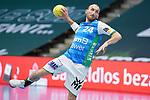 Marcel Schiller (FAG) beim Wurf beim Spiel in der Handball Bundesliga, Frisch Auf Goeppingen - Fuechse Berlin.<br /> <br /> Foto © PIX-Sportfotos *** Foto ist honorarpflichtig! *** Auf Anfrage in hoeherer Qualitaet/Aufloesung. Belegexemplar erbeten. Veroeffentlichung ausschliesslich fuer journalistisch-publizistische Zwecke. For editorial use only.